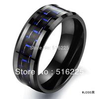 Fashion accessories jewelry gift carbon fiber ceramic ring wj200 black
