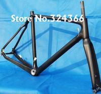 Full Carbon 3K Matt  Cyclocross cross Bike Frame + Fork  + headset : 51cm, 53cm, 55cm, 57cm