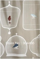 Free shipping ! Pastoral style birdcage shower curtain.100% Environmental protection