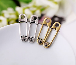 Fashion Unique Creative Women's Punk Stud Earrings Vintage clips Pins Antique Gold Silver Earring Wholesale JEWELY NJE020(China (Mainland))