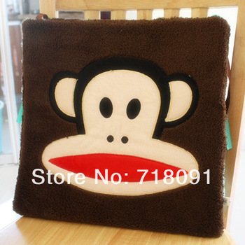 Hot sale plush and stuffed toy simian chair pad with embroidery,35x35cm,1pc