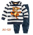 2013 New!Free shipping 6sets Spring/autumn cartoon pajamas stripe tigger children pyjamas 100% cotton baby pajamas
