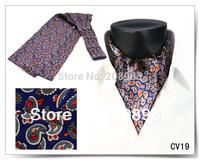 High Quality New Style Fashion Silk Cravat Tie Necktie Ascot Tie Free Shipping