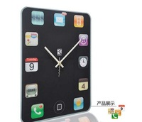 Free Shipping Ipad modelling , RETAIL ,Creative DIY modern design decorative digital Wall Clock Super mute