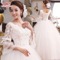 Long-sleeve wedding dress 2012 new arrival winter bride sweet princess winter