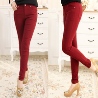 Ad3-3 spring 2013 pants solid color elastic thin skinny pants pencil pants casual long trousers