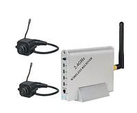 2.4GHZ Four Channel Wireless Receiver with 2x Pinhole Wireless Camera