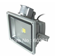 50W 30W 20w 10W AC85-265V PIR Motion Sensor LED Flood light lamp outdoor floodlight 1pcs free shipping(China (Mainland))