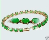 "Wonderful Green Natural Emerald Bracelet 7.5"" A-8"