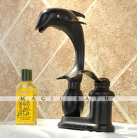 2014 Real Hot Sale Contemporary <3kg Dolphine Solid Animal Shape Faucet with Seperate Handle - Oil Rubbed / Bath & Kitchen Store