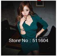 2013 summer women&#39;s puff sleeve gentlewomen elegant sexy V-neck slim