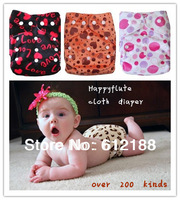 2013 NEW free shipping Happyflute cloth diaper insert nappy Pattern Minky reusable washable baby cloth training pants baby