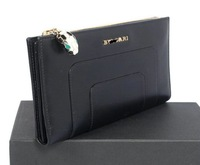 Leather Bags L-shaped Zipped Wallet 35285 Black Free Shipping Bags Women