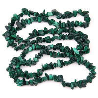 Jewelry azurmalachite gravel necklace natural crystal gravel semi finished small slitless