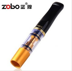 Luxury Metal glass pipe filter smoking pipe for men aluminum tube recycling style vintage cigarette rolling tobacco(China (Mainland))
