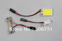 White 6W COB Chip LED Car Auto Interior Light T10+Dome+BA9S Adapter,Car Interior Lights Bulb Lamp 6pcs/lot