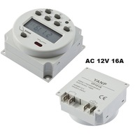 Digital LCD Power Programmable Timer Time Switch Relay AC 12V 16A