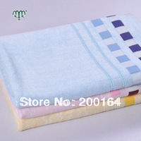 Wholesale 1PC 70x140cm Organic Bamboo fiber Bath Towel Beach Sheet With Plaid Pattern Super Soft and Smooth