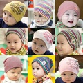 Boy and girl baby cartoon thermal 100% cotton pocket hat autumn and winter baby multicolor pattern hat  10pcs/lot