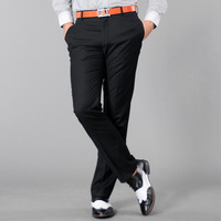 free shipping Hoperise male black slim western-style trousers male pocket bordered western-style trousers brief trousers