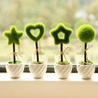 Brief green ceramic bottle artificial flower pot desktop accessories bonsai