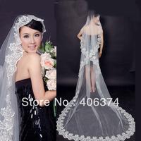 Free shipping,  fashion 5 meters  long Wedding veils