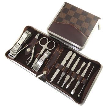 Free DHL shipping,5pcs  noble manicure pedicure set with nail clipper,nail file,nail polish, trimmer