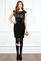 Women's aristocratic temperament dress dress waist Slim Dress Free shipping 5280