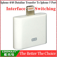 New Arrival Adapter for iphone 4/4s transfer to iphone 5  interface switching free shipping
