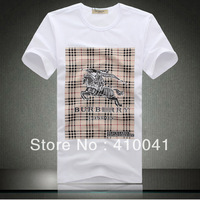 Fashion Brand BB Men's calssic cotton comfortable Horse Printing round collar O-Neck short sleeve shirts tees tops jerseys,M-3XL