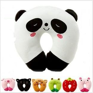 Lovely Cartoon U Pillow Nap Pillow Cervical Plush U Neck Pillow Travel Pillow(China (Mainland))