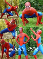 New Suit Red/Blue Spiderman Hero Zentai Full Body Catsuit Costumes~#673