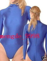 NEW SUIT LYCRA SPANDEX ZENTAI SEXY SHORT CATSUIT COSTUMES~BLUE #X434