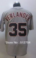Free Shipping #35 Justin Verlander Men's Baseball Jersey,Embroidery and Sewing Logos,size M--3XL,Accpet Mix Order