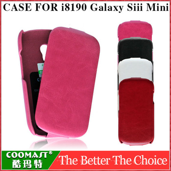 Top quality original care PU leather case for samsung galaxy siii mini i8190 flip cover luxury sensational cover free shipping