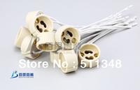 free shipping hot selling 10pcs GU10 Base Socket Lamp bulb Holder Ceramic Wire Connector