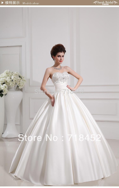 New Arrival 2013 Wedding Dress Sweetheart Princess Ball Gown Dress Up Cindere