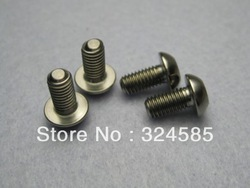 Free shipping!!!! 4 pcs/lot M5x10mm Water bottle cage Titanium screws bolts silver(China (Mainland))