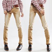 2013 spring explosion models jeans slim elastic yellow skinny pants pencil pants tt1 p75