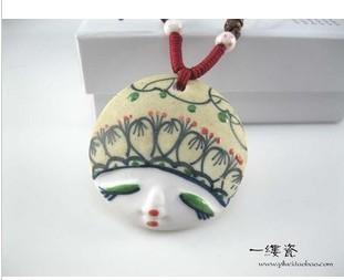 (Frete Grátis) pingente de cabeça Scrub facebook personalizado boneca acessórios cerâmicos para presente(China (Mainland))