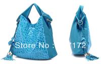 2013 hot Fashion PU Leather women's blue bags Handbag Shoulder bag Satchel tote Bag handbags