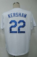 Free Shipping #22 Clayton Kershaw Men's Baseball Jersey,Embroidery and Sewing Logos,size M--3XL,Accpet Mix Order