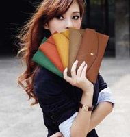 Free Shipping  fashion 12 colors fashion women's wallet 20pcslot, envelope purse, handbag