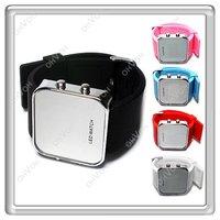 S5Y LED Luxury Jelly Silicon Sport Watch Digital Mirror Unisex Wrist Watch New