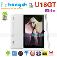 wholesale Original Cube U18GT 7 inch Super HD RK3066 Dual Core 1.6GHz Android 4.0 Tablet PC 1G/8G WiFi Camera+free shipping