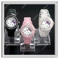 S5Y New HelloKitty Women Lady Fashion Crystal Stone Quartz Wrist Watch Gifts