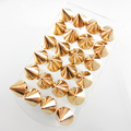 60pairs Fashion PUNK Spike Earring Ear Stud Gold Punk Earring