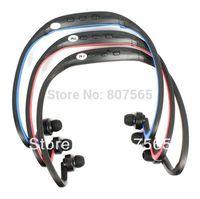 New USB Ear loop Headphones Earphones FM Sport MP3 Player With TF Slot 10 pcs