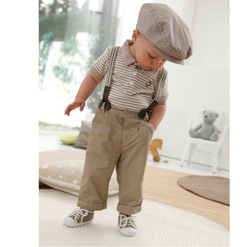 2013 fashion new design Boy's 1 set retail clothes set,shirt+pants+suspender 3 PCs set and clothes set,freeshipping 2013 New(China (Mainland))