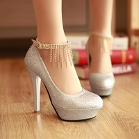 2013 spring platform high-heeled  single  women's  Pumps red wedding shoes elegant bridal shoes